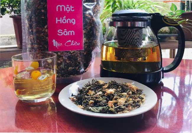 Cách sử dụng trà mát gan hồng sâm