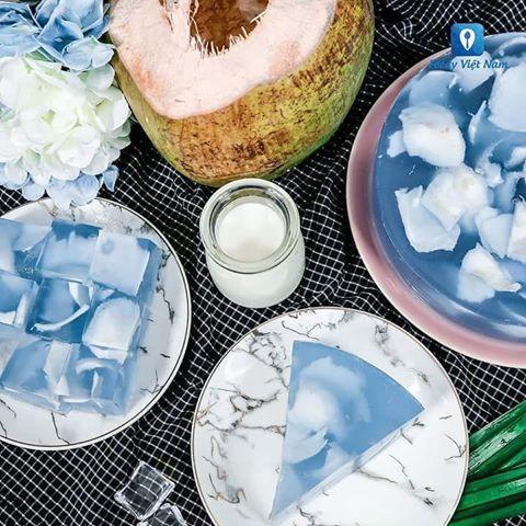 Thạch dừa hoa đậu biếc