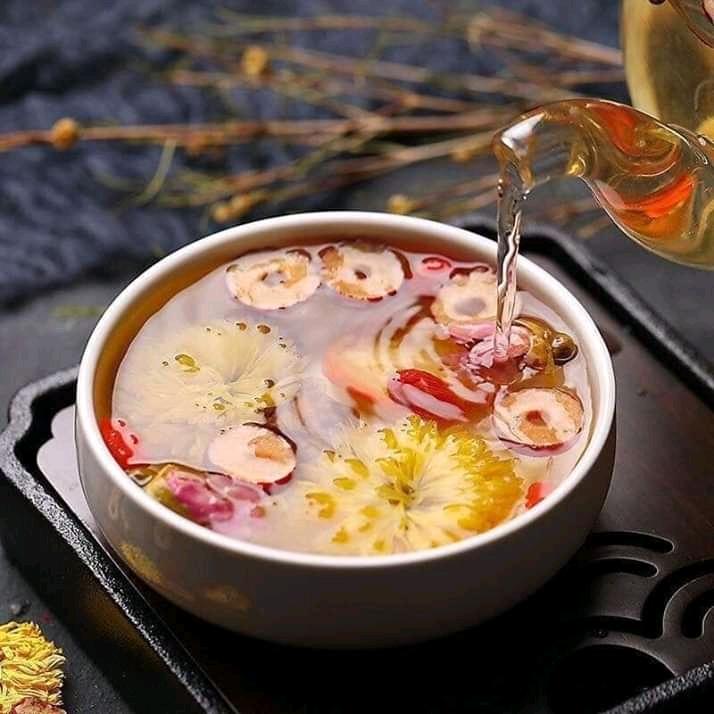 Slider trà hoa